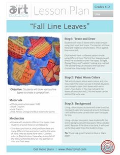 Teach kids to make different line types through a piece of artwork: Free PDF Download.