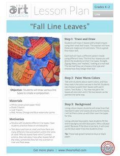 Fall Line Leaves - Art of Education