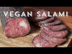 Vegan Foods, Vegan Dishes, Vegan Vegetarian, Vegetarian Recipes, Vegetarian Junk Food, Vegan Meat Recipe, Seitan Chicken, Seitan Recipes, Salami Recipes