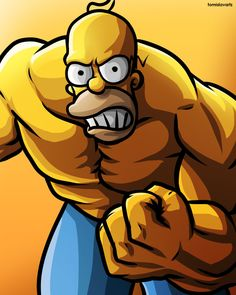 Beast Mode Homer, The Simpsons Simpsons Drawings, Simpsons Art, Homer Simpson, Cartoon Kunst, Cartoon Art, Simpson Wallpaper Iphone, Canvas Art Quotes, Art Painting Gallery, Mexico Art
