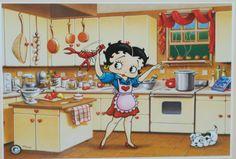 Betty Boop in the Kitchen <3