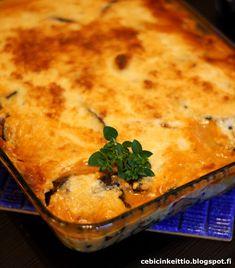 Moussaka soijarouheesta Moussaka, Cornbread, Ethnic Recipes, Food, Millet Bread, Meal, Essen, Hoods, Corn Bread