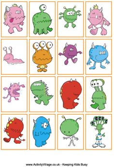 We love these monster sorting activities! Print and cut out the monster cards and monster mats, then sort by colour, shape, number of eyes - with monsters this gorgeous the sorting can't help but be fun! Sorting Games, Sorting Activities, Activities For Kids, Halloween Bingo, Theme Halloween, Halloween Crafts, Monster Activities, Monster Games, Monster Party