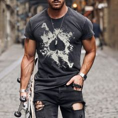 Outdoor Hiking And Running Sneakers - nikiluwa.com Casual T Shirts, Casual Tops, Men Casual, Smiley T Shirt, Poker, Jeans Cargo, Hoodie Sweatshirts, Unisex, Printed Shorts