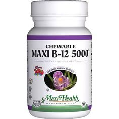 Maxi Health Kosher Vitamins Maxi B12 5000 - Chewable - 60 Tablets