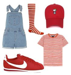 """""""red is life....ok"""" by niah-hamilton on Polyvore featuring beauty, NIKE, Dorothy Perkins and Marc by Marc Jacobs"""
