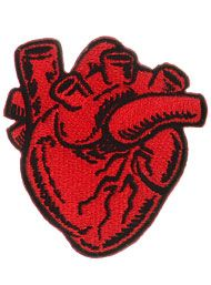 X-Ray Anatomical Heart Iron-On Patch