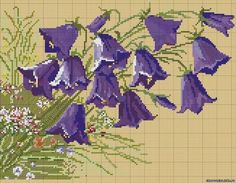 Embroidery Patterns Free, Counted Cross Stitch Patterns, Cross Stitch Charts, Cross Stitch Embroidery, Embroidery Designs, Cross Paintings, Cross Stitch Flowers, Cross Stitching, Flower Patterns