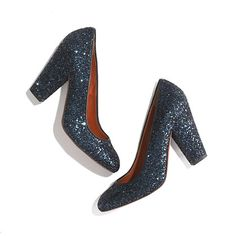 "These midnight blue (or ""transatlantic blue"") #Madewell #pumps are gorgeous and perfect for jeans or dressier looks. I never get tired of #sparkles!"