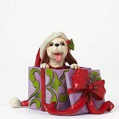 Enesco Jim Shore Mini Christmas Dog In Box #JimShore
