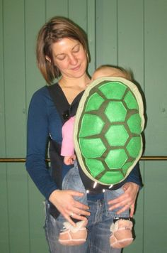 Turtle shell baby carrier . . .so cute!
