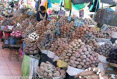 Hundreds varieties of potatoes in Peru