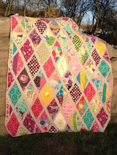 quilt out of baby's old clothes