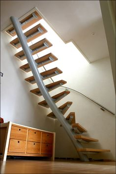 Circular Stairs For Small Spaces Smallest The Spiral Staircase Small Space Staircase, Space Saving Staircase, Staircase Design, Spiral Stairs Design, Staircase Decoration, Contemporary Stairs, Modern Stairs, Loft Stairs, House Stairs