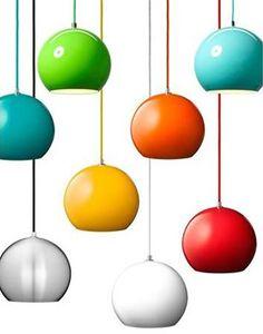Colourful retro lamps ... LOVE