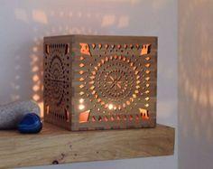 Tree Tealight Lantern 5th Anniversary Wooden Votive от BeamDesigns