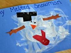 """This project is perfect your youngest artists. There is no """"right"""" way for this project to look and the messier it gets, the more adorable the final product will be. My little guys just loved the freedom to paint any way they wanted and create """"Frosty"""" after a day playing in the sun!"""