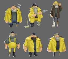 Character Reference, Character Design, Sea Captain, Out To Sea, Inspiring Art, Character Inspiration, Graphic Design, Base, Illustrations