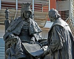 Las Tres Granadas: Monumento a Isabel La Católica y Cristobal Colón, de Granada