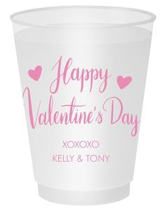 Happy Valentine's Day Shatterproof Cups