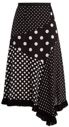 Andrew Gn Polka-dot print asymmetric silk skirt, You can collect images you discovered organize them, add your own ideas to your collections and share with other people. Skirt Outfits, Casual Outfits, Fashion Outfits, Polka Dot Print, Polka Dots, Modelos Fashion, Crepe Skirts, Silk Skirt, Silk Dress