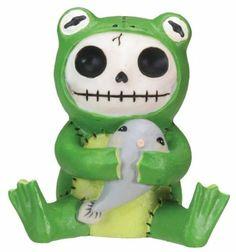 Froggie Frog Furry Bones Figurine