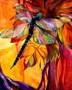 Dragonfly Painting Canvas Prints - Vineyard Fantasy Canvas Print by Karen Dukes Dragonfly Art, Dragonfly Painting, Dragonfly Jewelry, Dragonfly Tattoo, Fantasy Paintings, Fantasy Art, Patchwork Quilting, Art Quilting, Wow Art