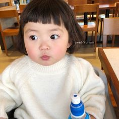 Little Boy And Girl, Cute Little Baby, My Baby Girl, Little Babies, Baby Kids, Cute Asian Babies, Korean Babies, Cute Babies, Cute Baby Meme