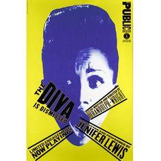 The Public Theater The Diva Is Dismissed - Paula Schler L'artiste a realisé de nombreux logos tel que ceux de microsoft, son travail est basé sur des paroles comiques et un jeu avec les couleurs primaires.