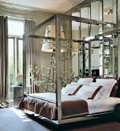 silver. master bedroom