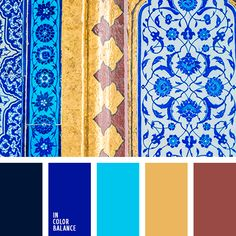 gold and blue color palette