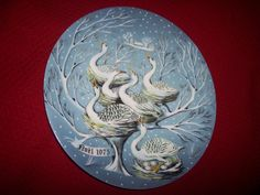 1975 Haviland Limoges ~ Six Geese a Laying