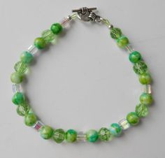 Spring Green Bracelet/Green and Yellow by CompletelyPersonal, $9.95