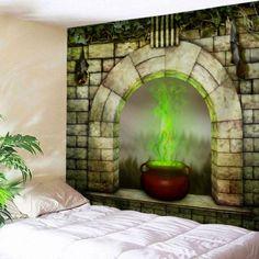 Window Censer Halloween Wall Art Tapestry