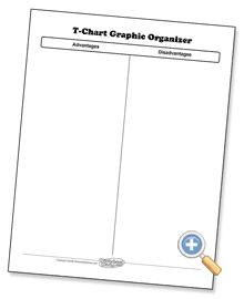 Use this 2 column T-Chart to get students to take notes in