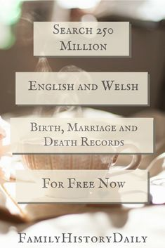 The GRO index has 250+ million free vital records for conducting English genealogy research and discovering your Welsh and English ancestry. #freegenealogy #familytree