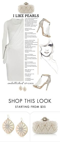 """""""Embellished Shoes"""" by emcf3548 ❤ liked on Polyvore featuring ABS by Allen Schwartz, Oscar de la Renta, Jimmy Choo and embellishedshoes"""