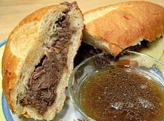This is so good and so easy! My men at home never leave any leftovers. We like to put the meat on big Sub Buns and dip the rolls in meat juices before loading on the beef slices.