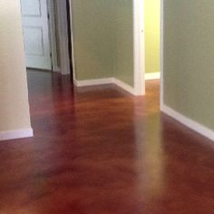 Stained Concrete Floor A Tad Too Red For My Liking But I Like The Look Of It