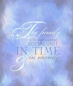 """The family as ordained of God. Your leadership of the family is your most important and sacred responsibility. The family is the most important unit in time and in eternity and, as such, transcends every other interest in life."" From President Hunter's http://pinterest.com/pin/24066179230879012 Oct. 1994 http://facebook.com/223271487682878 message http://lds.org/general-conference/1994/10/being-a-righteous-husband-and-father #LDSconf; #family"
