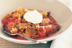 Ginger and Rhubarb Crumble