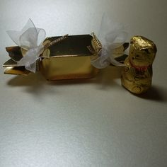 Bon Bon wrapper for Lindt chocolate teddy bear - made using the Envelope Punch Board