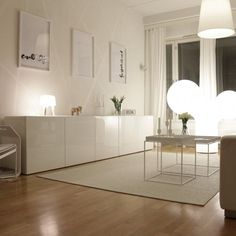 White IKEA Besta on a floor