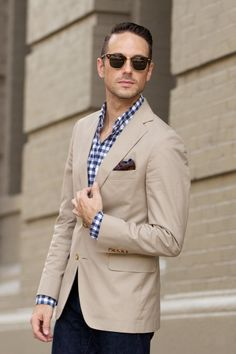 Khaki Blazer is always a nice idea... #menswear #style #blazer