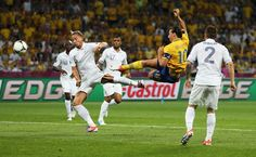 Ibrahimovic (Sweden) in the match against England (november 2012).  Sweden won (4-0), 4 goals Ibrahimovic.