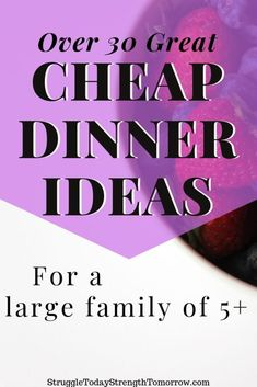 Dirt Cheap Meals for a Family of 5 - Struggle Today Strength Tomorrow - Dirt cheap dinners for a large family of 5 or bigger. With over 31 affordable meal ideas you can cu - Dirt Cheap Meals, Inexpensive Meals, Cheap Dinners, Budget Meal Planning, Cooking On A Budget, Food Budget, Budget Recipes, Budget Freezer Meals, Frugal Meals