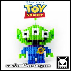 This is a Toy Alien from (Toy Story's Pizza Planet) I made in the cool new 3d perlerbead art style! %0D%0A%0D%0AProducts are made to order and do take about a week to make depending on the order.%0D%0A%0D%0APlease Like Voxel on Facebook!%0D%0Ahttp://facebook.com/voxelperlers%0D%0A%0D%0A(These products are for sale, therefor...