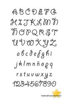 Letras bonitas para decorar cuadernos abecedario buscar - Letras infantiles para decorar ...