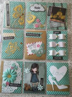Teal and gold theme pocket letter