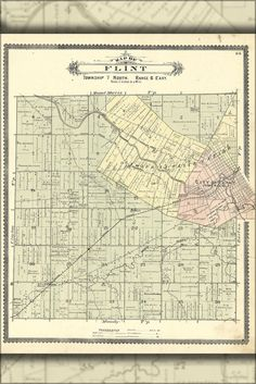 Shop for michigan on Etsy, the place to express your creativity through the buying and selling of handmade and vintage goods. Flint Michigan, Vintage World Maps, Brainstorm, Handmade Gifts, Poster, Etsy, Awesome, Kid Craft Gifts, Craft Gifts